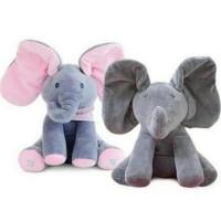 Sing & Peek a Boo Elephant Doll Boneka Gajah Cilukba & Nyanyi Boneka G