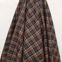 Kain Kotak Wool Poly Cotton ( Coklat Kombinasi Hitam Abu )