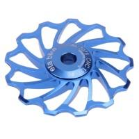 Pulley RD 13T keramik warna Biru Blue per 1 pcs sepeda gowes