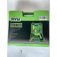 RYU Mesin bor tangan listrik 10 mm set koper 22 pcs RDR 10 - 3 REB