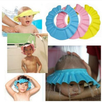 Topi Keramas Anak Kecil Bayi Balita Kid Shower Cap dengan Kancing