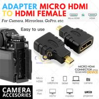 Adapter Micro HDMI TO HDMI female Kamera Mirrorless ,dll