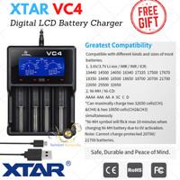 Charger Xtar VC4 LCD Display 4 Slot Battery Original