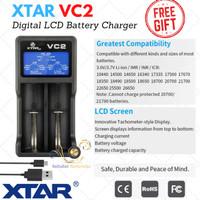 Charger Xtar VC2 LCD Display 2 Slot Battery Original