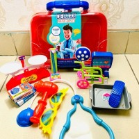Mainan Dokter Deluxe Medical Set Warna Merah / Mainan Dokter Dokteran