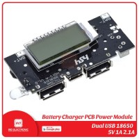 POWERBANK MODULE DUAL USB 5V 1A 2.1A WITH LCD POWER BANK MODULE