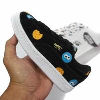 Sepatu Anak Kids Toddler Sneakers Puma Suede SESAME STREET 50 Black