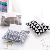Kotak Sarung Tempat Tisu Kain Motif Di Mobil Cover Tissu