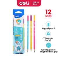 Deli EU53100 Graphite Pencil 2B / Pensil 2B isi 12 Pcs