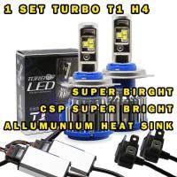 LAMPU LED TURBO T1 H4 HI/LO 12-24V 70WATT SUPER BRIGHT CSP LED BEADS