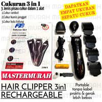 Alat Cukur 3in1 Rambut Jenggot Kumis Bulu Hidung FD-5802 3 in 1 Shaver