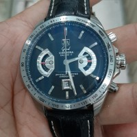 jam tangan pria sporty chronograph all stainles steel