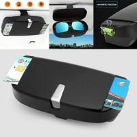 Kotak Kacamata Mobil Sun Visor Sunglasses Organizer Box Tempat Koin @@