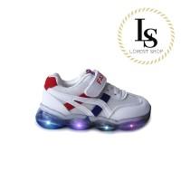 Sepatu Anak LED Tiger Asics Onitsuka Premium / Sneakers Lampu Import