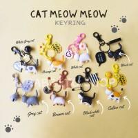 Gantungan Kunci Kucing Cat Lover / Cat Keychain Souvenir Hadiah Lucu
