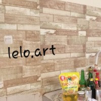 Wallpaper Foam 3D motif Kayu