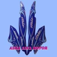 Striping / Sticker Yamaha Mio Sporty 2005 warna biru corak kembang