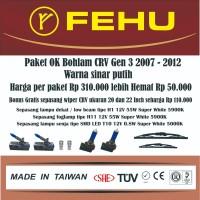 Paket OK bohlam Fehu plus LED Honda CRV Gen 3 2007 2015 Sinar putih