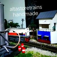 miniatur rumah sinyal Kereta api