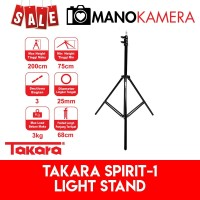 Light Stand Takara Spirit-1 Tinggi 2m Lightstand Studio Flash Umbrella