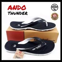 Sendal Jepit Pria Sandal Ando Thunder Size.38~42 Ori Termurah Terlaris