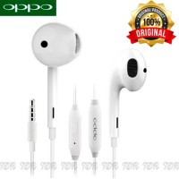 HEADSET EARPHONE HANDSFREE OPPO ORIGINAL BAWAAN CABUTAN