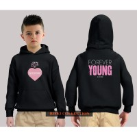 hoodie sweater anak black pink forever young jaket anak 01