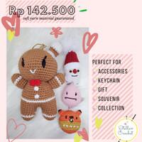 PAKET Boneka Rajut Natal Christmas (Gingerbread, Santa Claus) & Paskah