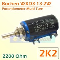 BOCHEN 2K2 Wirewound Potentiometer Potensio Multi Turn WXD3 13 2W 2.2K