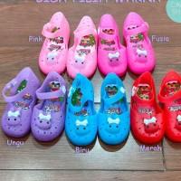 Promo !! Sepatu Anak Perempuan LED Flat Shoes Jelly Maryjane