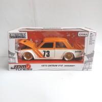 Jada Toys Diecast JDM Tuners 1/24 1973 Datsun 510 Widebody Orange