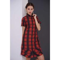 Dress Wanita EDITION ED73MAROON Short Sleeveless
