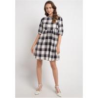 Dress Wanita EDITION Plaid Smock Ed72