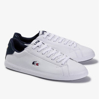 LACOSTE Men's Graduate Tricolore Leather and Synthetic Sneakers PRIA