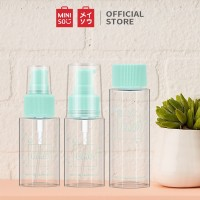 MINISO 3 pcs Botol Travel Kit Set Cosmetic Toiletries Travel Botol