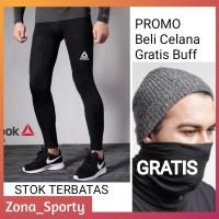 Celana Legging Baselayer Sport Panjang Reebok Training Gym Fitness