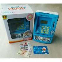 Mainan Mesin ATM Doraemon / Celengan Atm bank