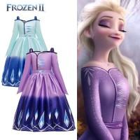 Baju Elsa Frozen 2 Biru / Kostum Elsa Princess Frozen dua Biru CG73