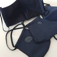 Masker kain WATER REPELLENT 3 ply - NAVY - FACTORY DIRECT