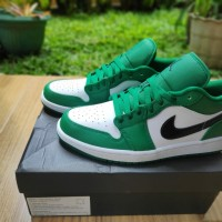 Sepatu Air Jordan 1 Low Line Green Size US 10 Original