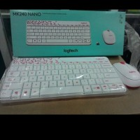 keyboard mouse logitech mk240 original/ kb logitech mk 240 wireless