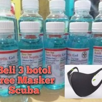 Promo Beli 3 Botol Handsanitizer Free 1 Masker Scuba