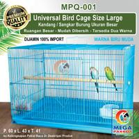 Kandang / Sangkar Burung Ukuran Besar [ Size L ] MPQ-001 - Biru Muda