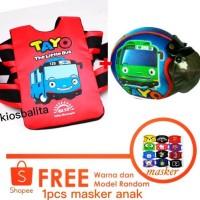Free Masker!! Paket Sabuk Boncengan Motor Anak + Helm Bogo