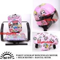 Promo Paket Lengkap Boncengan Motor Anak + Helm Anak + Bantal Setir