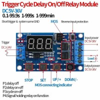 Trigger Cycle Delay Timer Switch Turn On/Off Relay Module+LED