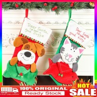 Kaos Kaki Gantung Motif Anjing / Kucing untuk Dekorasi Pohon Natal