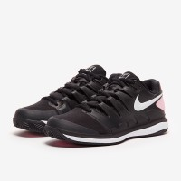 Sepatu Tenis Nike Womens Air Zoom Vapor X Clay - Black/White/Pink Foam