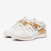 Sepatu Tenis Nike Womens Air Zoom Vapor X HC - Phantom/Metallic Gold