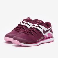 Sepatu Tenis Nike Womens Air Zoom Vapor X HC - Bordeaux/Pink Rise/Whit